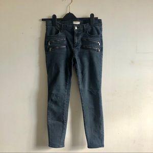 ZARA Moto Zipper Skinny Leg Pants Size 38 / 6